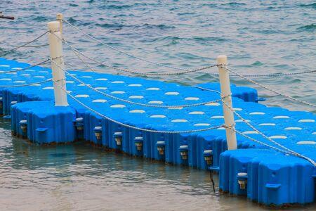 berth: Berth Sea Way Beach Made from plastic Stock Photo