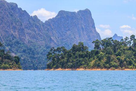 sok: Khao sok park, mountain and lake in Suratthani, Thailand.