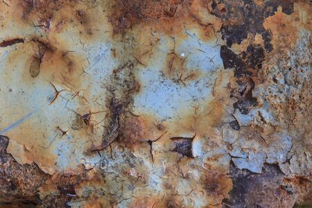 oxidate: close up of metal rust background