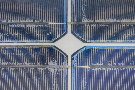 voltaic: Close up of old solar panel
