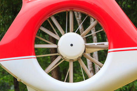 helicopter, Details of the rotor and part of the body of modern military helicopters closeup Stock Photo