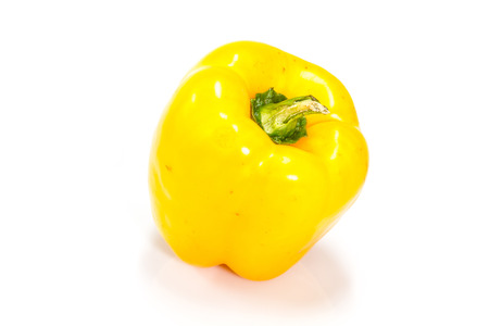 bell peper: colored peppers over white background, Fresh vegetables sweet Peppers or Bell peppers