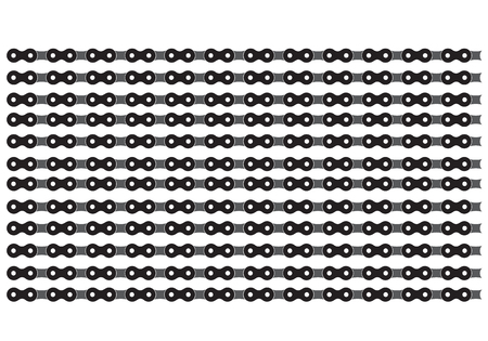 robust: illustration with bicycle chain on a white background