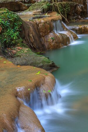 beautiful heaven: Waterfall in the tropical forest at Thanbok Khoranee National Park, Krabi, Thailand