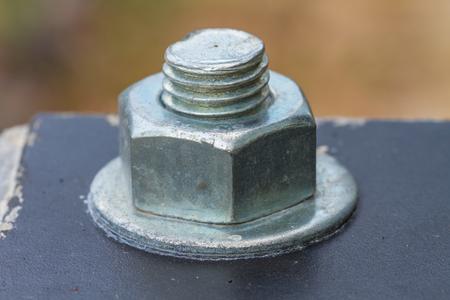 tuercas y tornillos: Tuercas Tornillos de cerca del fondo, se puede utilizar como fondo Foto de archivo