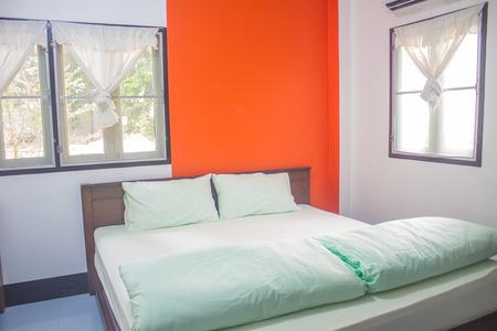 bedroom design: bedroom in my home, interior design bedroom Editorial