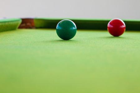 Close up Snooker balle sur table, table de billard