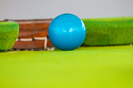 group of colourful ball: Close up Snooker ball on table, billiard table Stock Photo