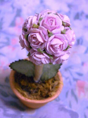 pink flower, rose tree ,handmade