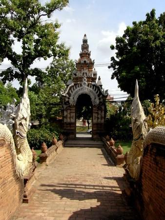 Temple of Thailand (Lanna style) Stock Photo
