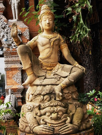 A statue of a Buddha in Thailand. Stock Photo