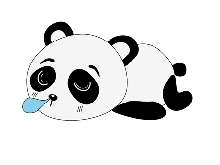 Panda cartoon isolated on white background  photo