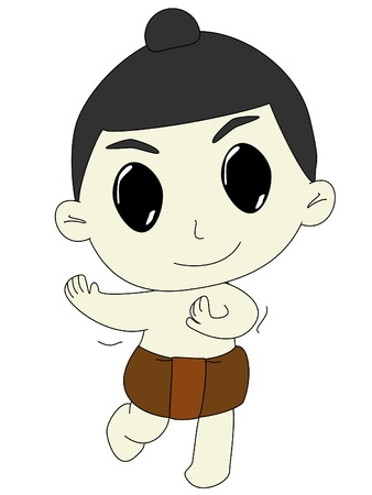 lowbrow: boy cartoon isolated on white background