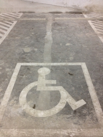 Disabled parking Stock Photo