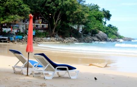 The chair for rent at Kata beach, Phuket, Thailand   photo