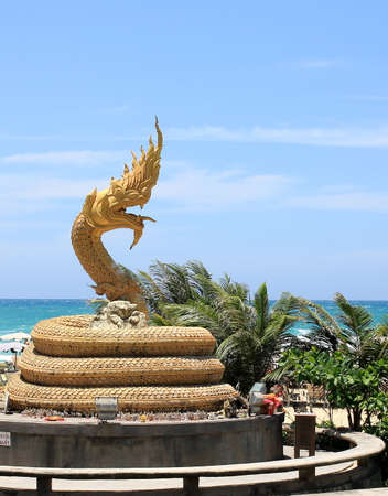 Serpent Statue landmark of Karon Beach, Phuket Thailand