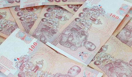 Close up of Thai money , Thailand
