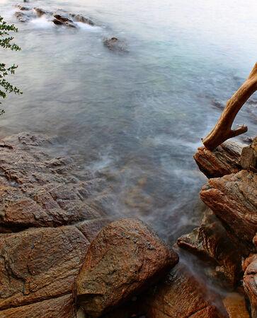 samet: Rocky Shore Samet island , Rayong Thailand