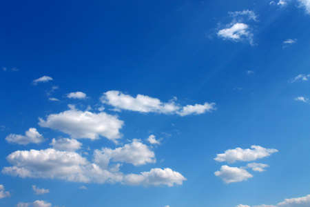 The white clouds in the blue sky Stock Photo