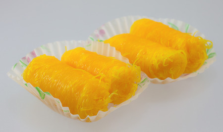 Golden threads ,a kind of Thai sweetmeat