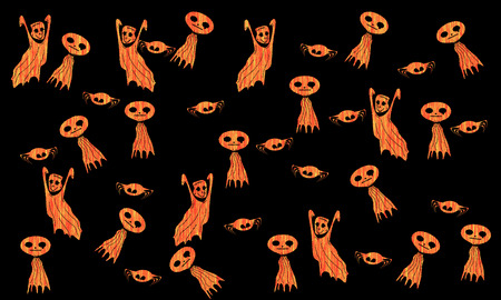 Halloween monsters isolated on  background Stock Photo