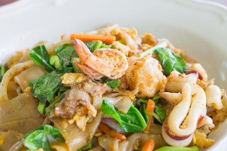 Fried Noodle with Seafood , Thai food