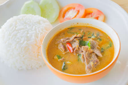 Red curry with beef ,Thai food