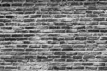 Black and white brick wall background Stock Photo