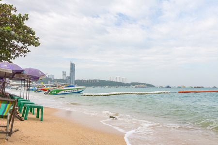 brothel: PATTAYA, THAILAND - December 17, 2014 Pattaya developed into a popular beach Today Pattaya is making efforts to clean up its image to become a family-oriented seaside destination