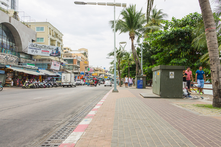 PATTAYA, THAILAND - December 17, 2014 Pattaya developed into a popular beach Today Pattaya is making efforts to clean up its image to become a family-oriented seaside destination