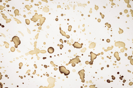 stain: Sheet of the old paper with stain of coffee