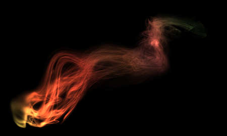 colored smoke: Colored smoke isolated on black background Stock Photo