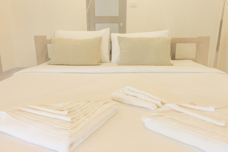 king size: King size bed and net curtains for bedrooms