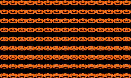 halloween pattern: Halloween pattern background with Set of pumpkin