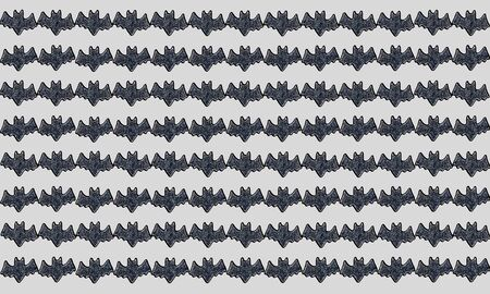 halloween pattern: Halloween pattern background with Set of bats