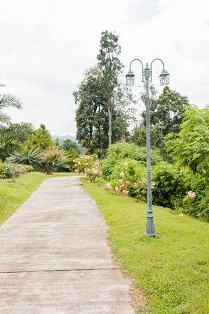 garden lamp: old garden lamp in the garden