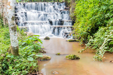 thailand flood: Waterfall in the forest