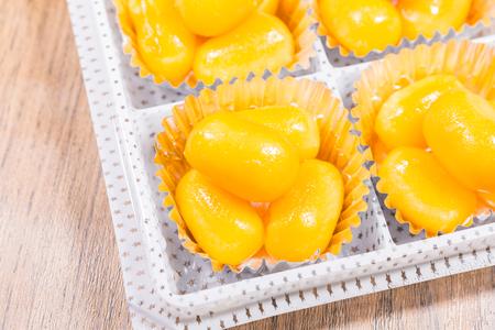 golden bean: Golden Jackfruit Seeds ,Thai Mung Bean and Egg Yolk Dessert (Met Khanoon: THAI)