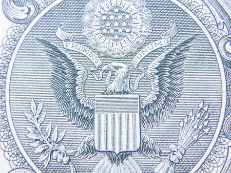 Closeup of Detail on the US $1 dollar