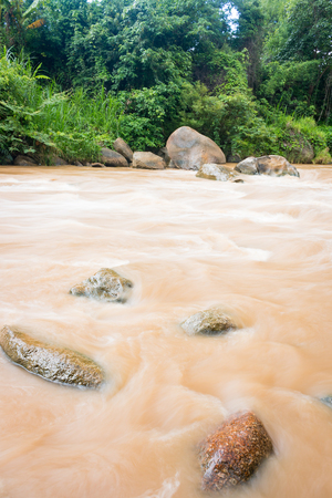 Whitewater Rafting route in Mae Taeng district at Chiang Mai , Thailand.
