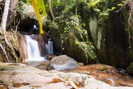 Waterfall in the forest at Mae Kampong village Chiang Mai, Thailand Stock Photo