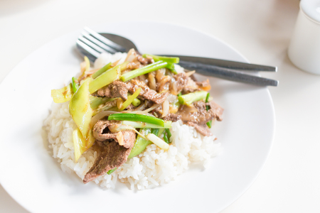 sweet and savoury: Fried Stir Pork Liver with Sweet Pepper , Thai food
