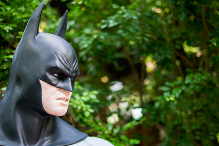 Chiang Mai , Thailand - Oct 13 : Close up Model of Batman in The Graden on October 13 , 2016 in Chiang Mai, Thailand