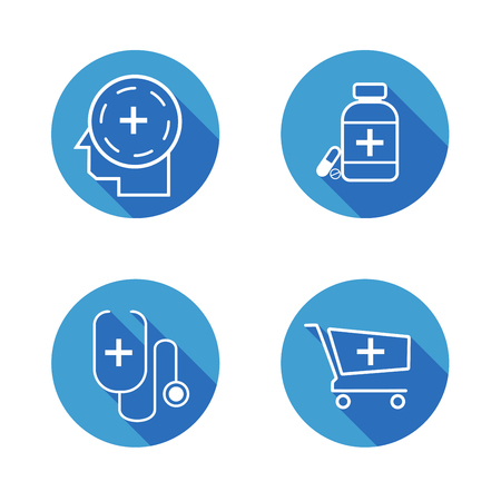 Medical Icons , Set of hospital and medical care symbol collection. Illustration