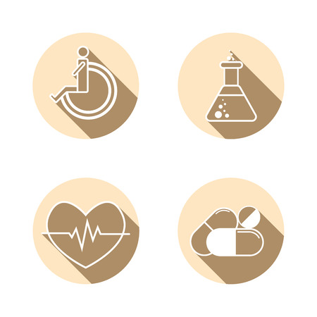 Medical Icons , Set of hospital and medical care symbol collection.