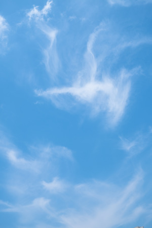 Blue sky with clouds and copy space for text