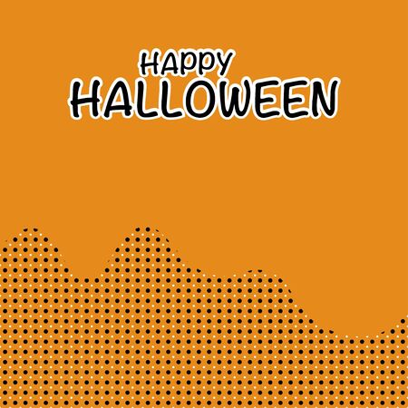 Halloween concept with orange background and copy space for text, Vector illustration