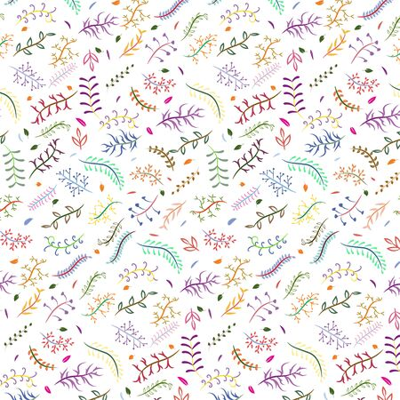 Seamless  floral pattern isolated on white background Illustration