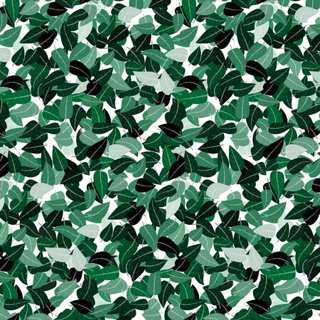 Green leave pattern background , vector illustration