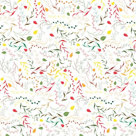 Hand drawn decorative christmas design pattern background, vector illustration